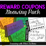 Classroom Student Reward Coupons for Students Incentives