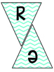 Classroom Subject Banners Blue Chevron