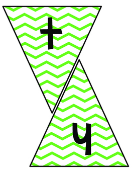 Classroom Subject Banners Green Chevron