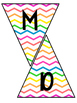 Classroom Subject Banners Rainbow Chevron
