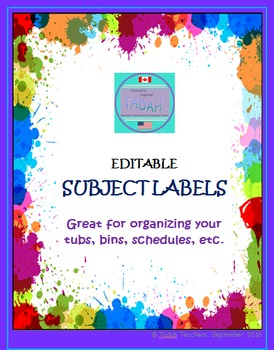 Classroom Subject Labels
