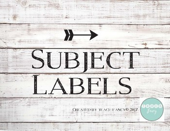 Classroom Subject Labels - Modern Twist on Rustic Shiplap