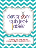 Classroom Subject Labels_Chevron