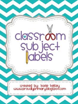 Classroom Subject Labels_Chevron_FullVersion