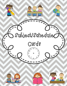 Classroom Subject/Schedule Cards