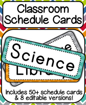 Classroom Subject & Schedule Signs: Polka Dots
