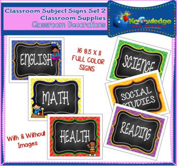 Classroom Subject Signs Set 2
