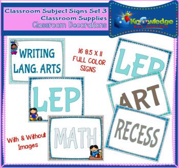 Classroom Subject Signs Set 3