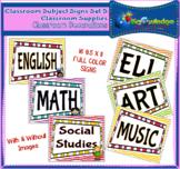 Classroom Subject Signs Set 5