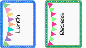 Classroom Subject and Specials Signs