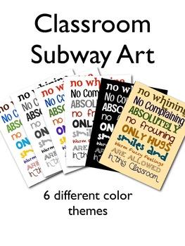 Classroom Subway Art
