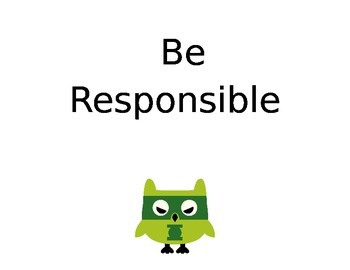 Classroom Superhero Owls Rules