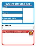 Classroom Superhero Worksheet