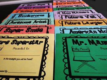 Classroom Superlatives and End of Year Writing Activities