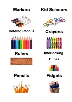 Classroom Supplies Bin Labels