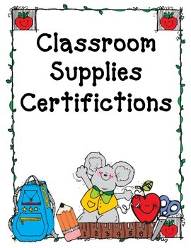 Classroom Supplies Certifications - Guided Discovery & Materials Management
