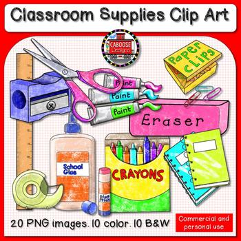 Classroom Supplies Clip Art * School Supplies