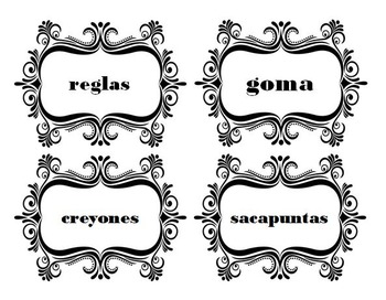 Classroom Supplies Labels in Spanish - Classroom Items