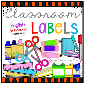 Classroom Supplies Label English-Indonesian