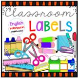 Classroom Supplies Label English-Indonesian