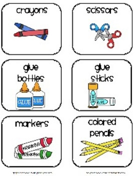 Classroom supplies labels by 2care2teach4kids teachers for Room labels