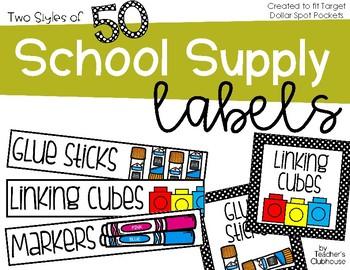 Classroom Supplies Labels