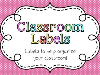 Classroom Supply Labels and Classroom Library Labels