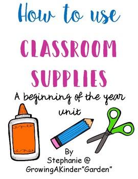 Classroom Supplies Unit