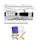 Classroom Supplies Vocabulary in Spanish