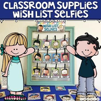 Classroom Supplies Wish List Selfies (Cute Kiddos Rainbow Brights Set 2)