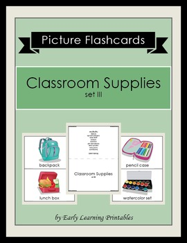 Classroom Supplies (set III) Picture Flashcards
