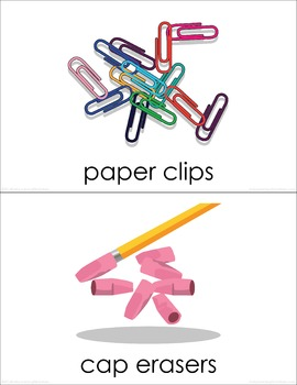 Classroom Supplies (set IV) Picture Flashcards