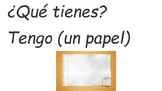 Classroom Supplies with Basic Questions in Spanish