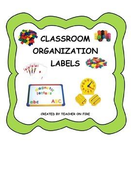 Classroom SuppliesOrganization Labels