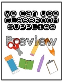 Classroom Supply Anchor Charts