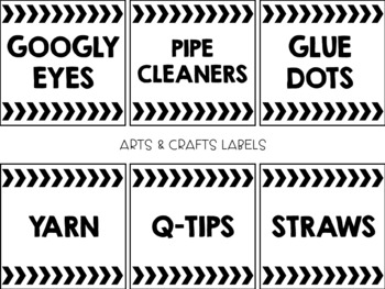 Classroom Supply Bin Labels EDITABLE