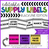 Classroom Supply Bin Labels EDITABLE