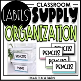 Classroom Supply Bin Labels- ORGANIZATION