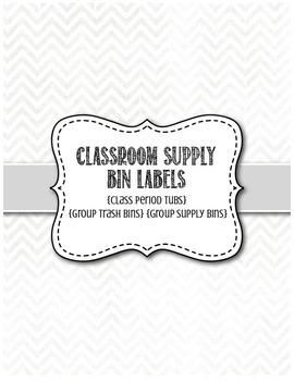Classroom Supply Bin Labels in Spanish & English