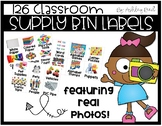 Classroom Supply Labels with Photographs