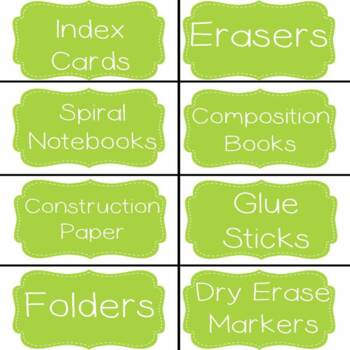 Classroom Supply Labels!