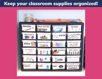 Classroom Supply Labels EDITABLE