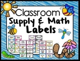 Classroom Supply and Math Labels