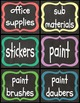 Supply Labels for Classrooms