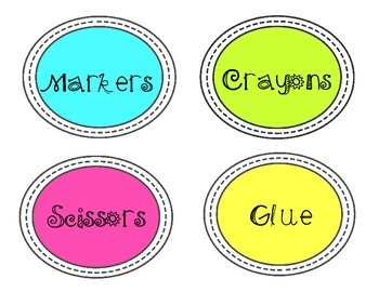 Back-to-School: Classroom Supply Labels 2