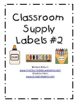 Classroom Supply Labels #2