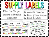 Classroom Supply Labels (3 Different Colors!) (Fits Target