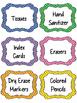 Classroom Supply Labels- 3 Polka Dot Designs
