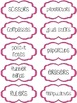 Classroom Supply Labels - 4 Colors Stitches Collection