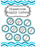 Classroom Supply Labels: 54 Labels Included